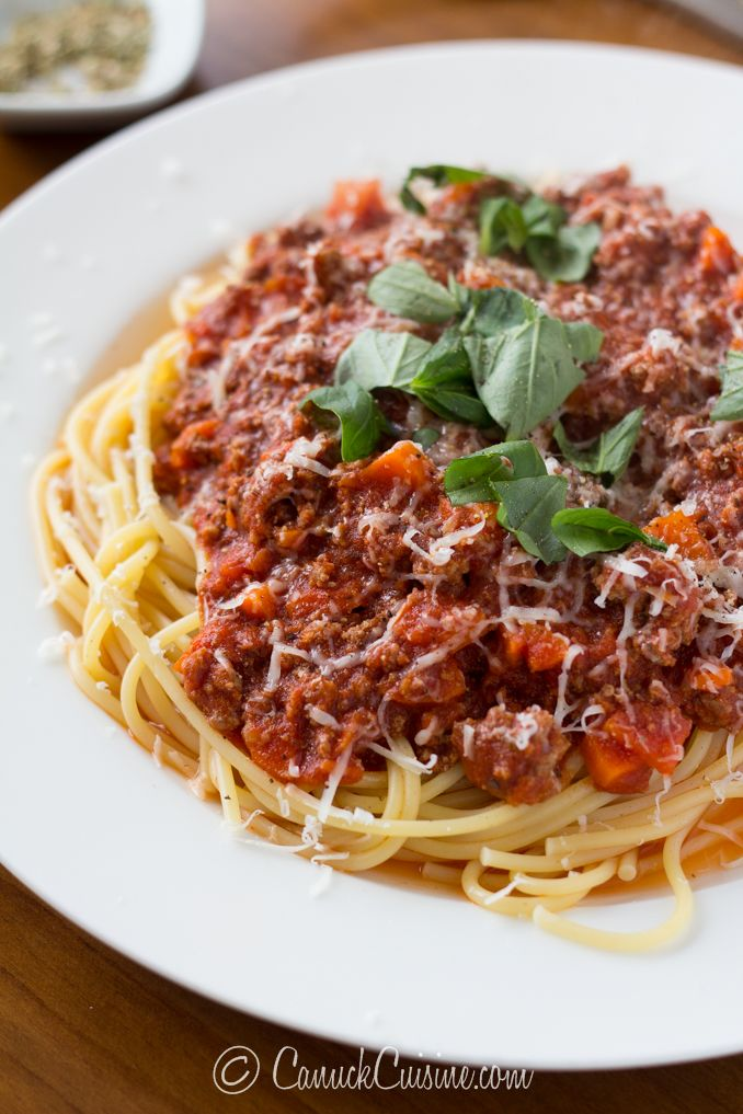 Spaghetti with Ground Beef Marinara Sauce | Recipe