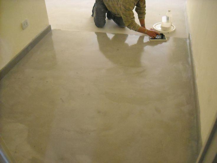 Piso Para Baño Verde:El microcemento es un revestimiento continuo para pisos y paredes, de