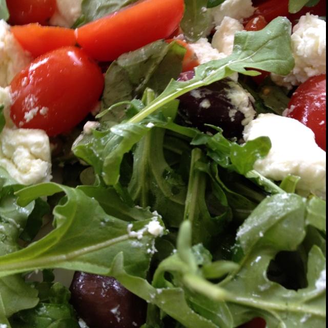 Pasta Salad With Goat Cheese And Arugula Recipe — Dishmaps