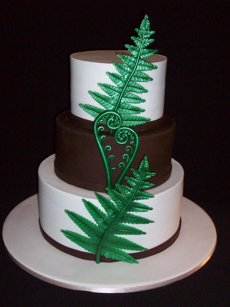 Cake Design New Zealand : New Zealand fern cake Wedding cakes Pinterest