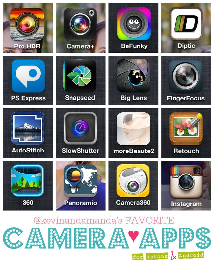 Great blog post by Amanda @kevinandamanda.com -  Best Camera Apps for iPhone and Android