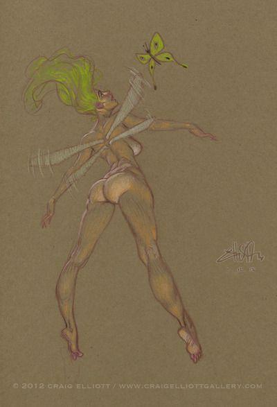 Craig Elliott   Winged fairysketch~