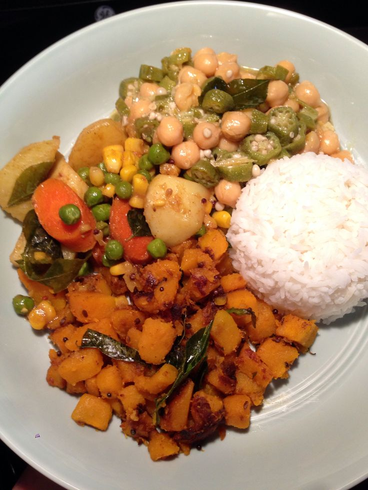 ... : Pumpkin Curry, Vegetable Curry, Okra & Chickpea Curry, Basmati