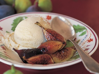 Lavender-Scented french Vanilla Ice Cream with Broiled Fresh Figs ...