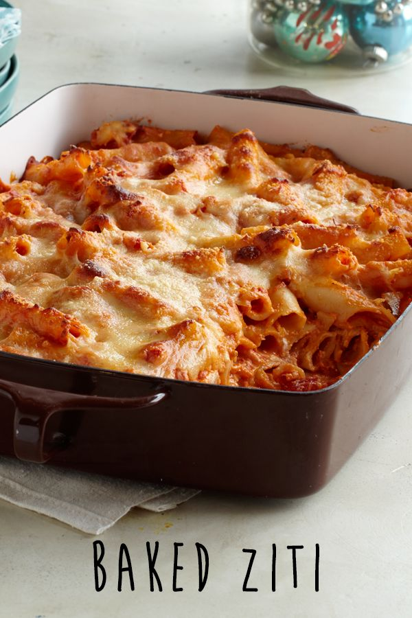 Creamy Baked Ziti is the way to your family's heart #recipe