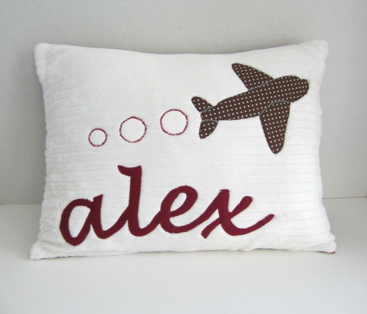A Personalized Airplane Pillow. $40.00, via Etsy.