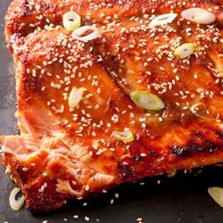121995 - Miso Ginger Glazed Salmon - By TasteSpotting