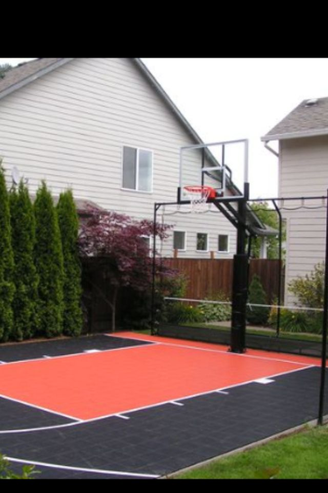 Home Basketball Court New House Ideas Pinterest