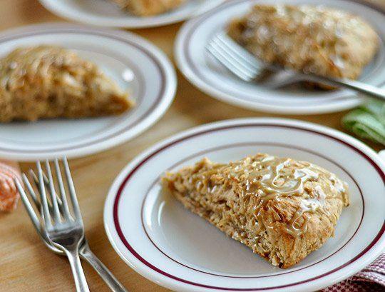 Banana Bread Scones with Brown Sugar Glaze | Recipe
