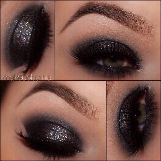Smokey glitter @ makeupbymia