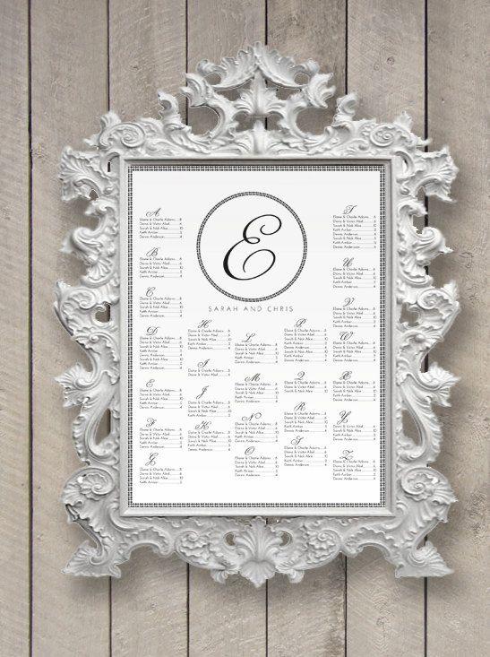 Printable Monogram Wedding Seating Chart
