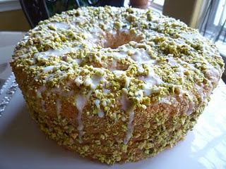 Lime Angel Food Cake with Lime Glaze and Pistachios | feed the beast ...