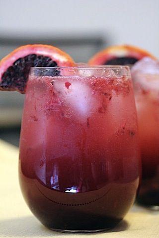 Blood Orange Sparkler, yum! #Drinks