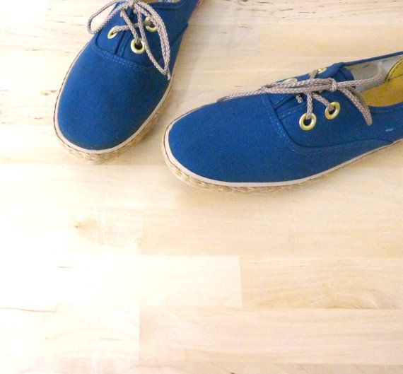 Vintage Canvas Boat Shoes / Navy Blue Shoes / by VintageEdition, $36