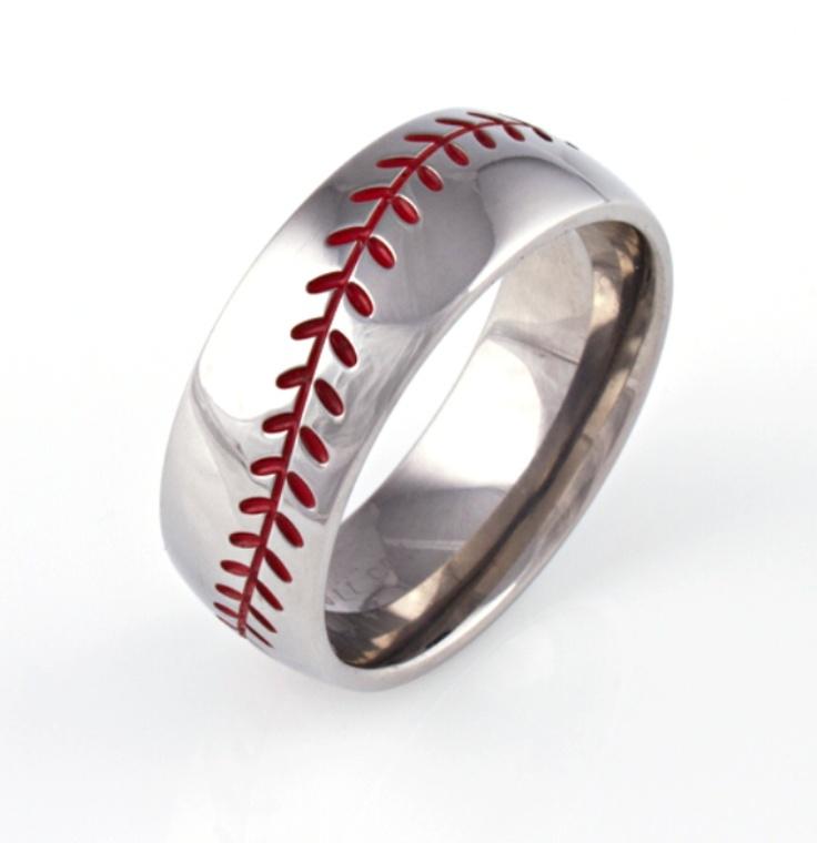 Baseball Wedding Band I Wouldn 39 T Want This As A Wedding Band Just A