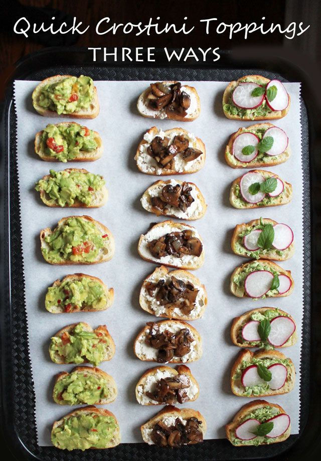 quick and delicious crostini toppings: 3 Fresh Ways