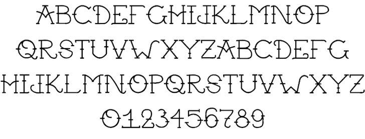 Traditional tattoo font roman