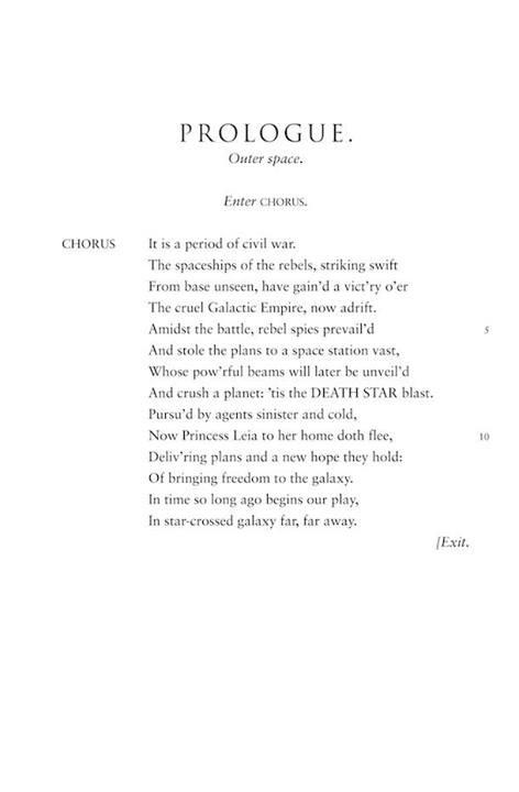 Star Wars Shakespeare thing 2