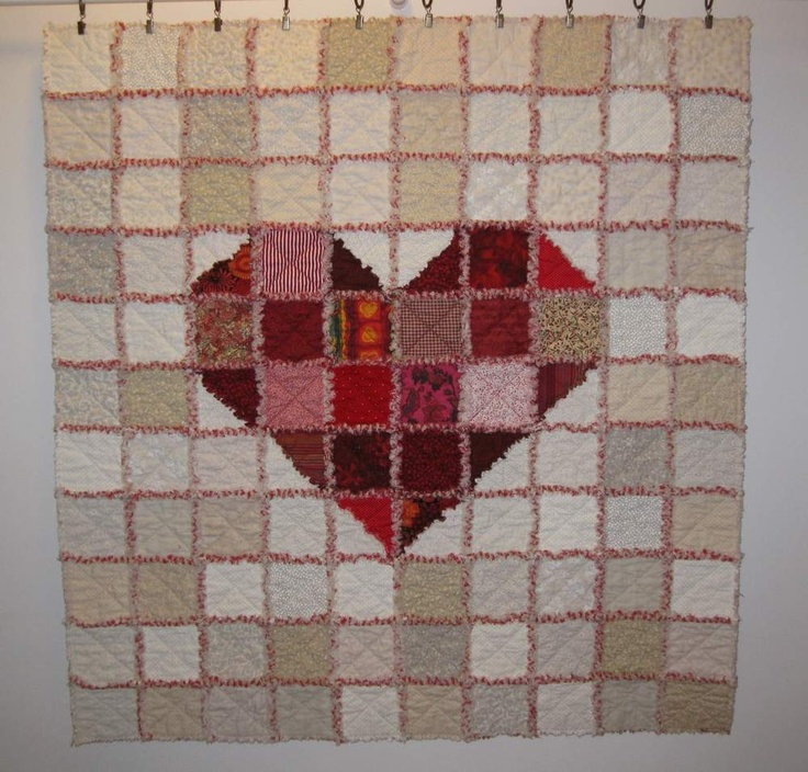 Heart of Hearts rag quilt Quilts - Rag Pinterest