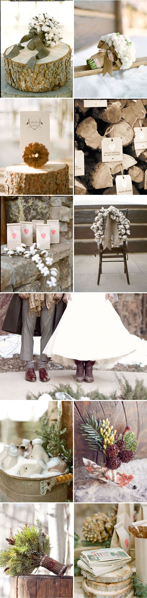 Inspiration for a Rustic Winter Wedding