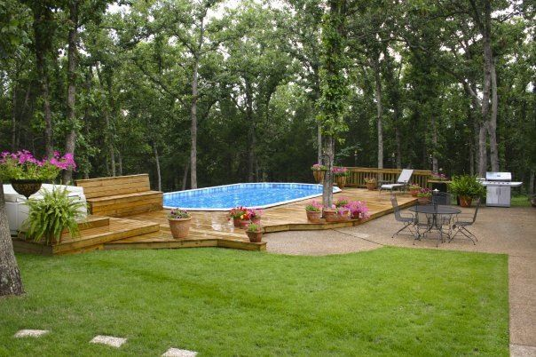 Pin by sarah loth on for the home pinterest for Above ground pool decks oklahoma city