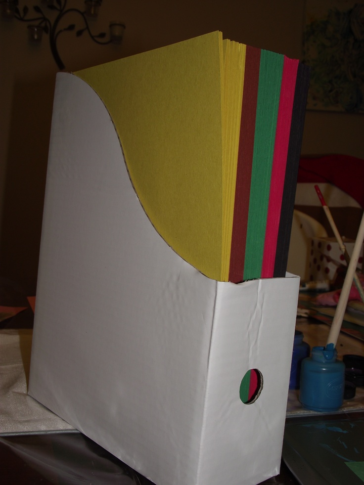 Pin by shelley albright on classroom organization pinterest for How to make a magazine holder from cardboard