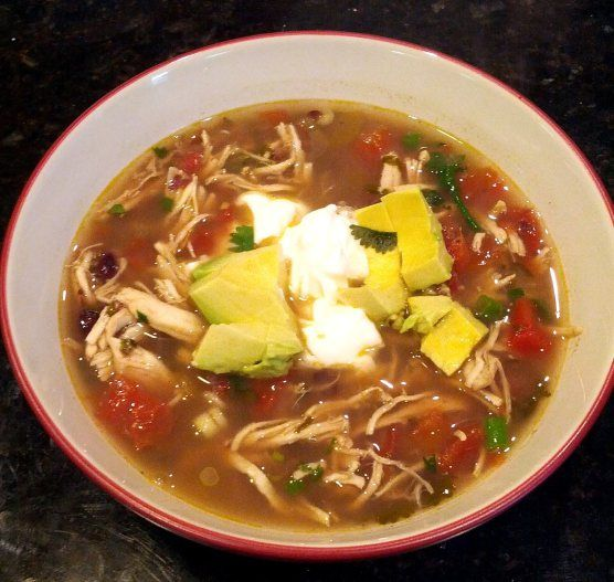 Crock Pot Spicy Chicken and Black Bean Soup