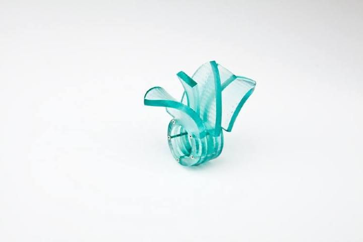 Kirsty Stewart - feather ring - silver, perspex - Edinburgh College of Art 2013