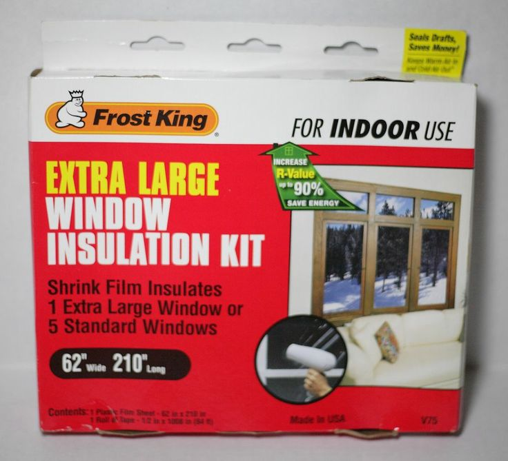frost king extra large window insulation kit for indoor
