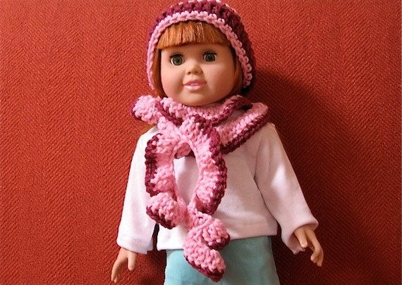 Crochet Pattern 18 Inch Doll Spiral Scarf and Hat Digital ...