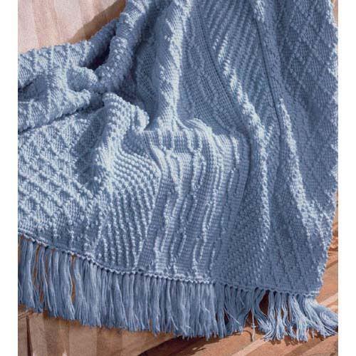 AFGHAN-STITCH ARAN AFGHAN Crochet Pattern, HERRSCHNERS