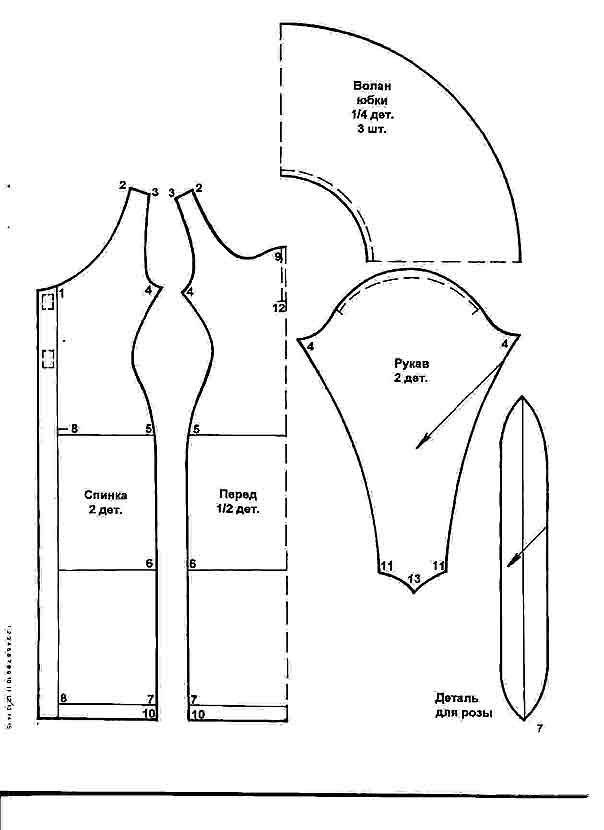 Выкройки всевозможной одежды для куклы Барби своими руками