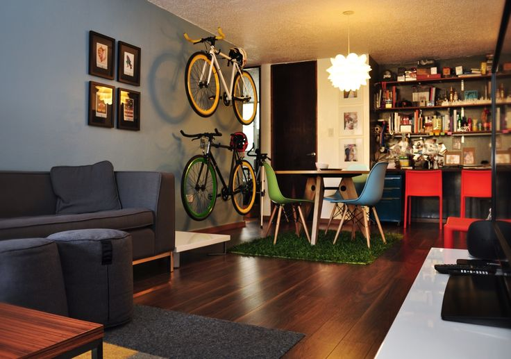 Loft style living space. Cool and trendy hipster apartment ...