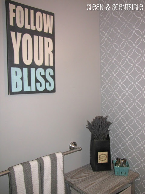 Cute teal and gray bathroom makeover house remodeling for Teal and grey bathroom ideas