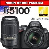 Nikon D5100 Digital SLR Camera  18-55mm G VR DX AF-S  55-300mm VR Zoom Lens (Electronics)