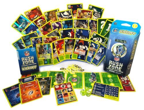 New official nfl rush zone collectible trading card game kickoff seri