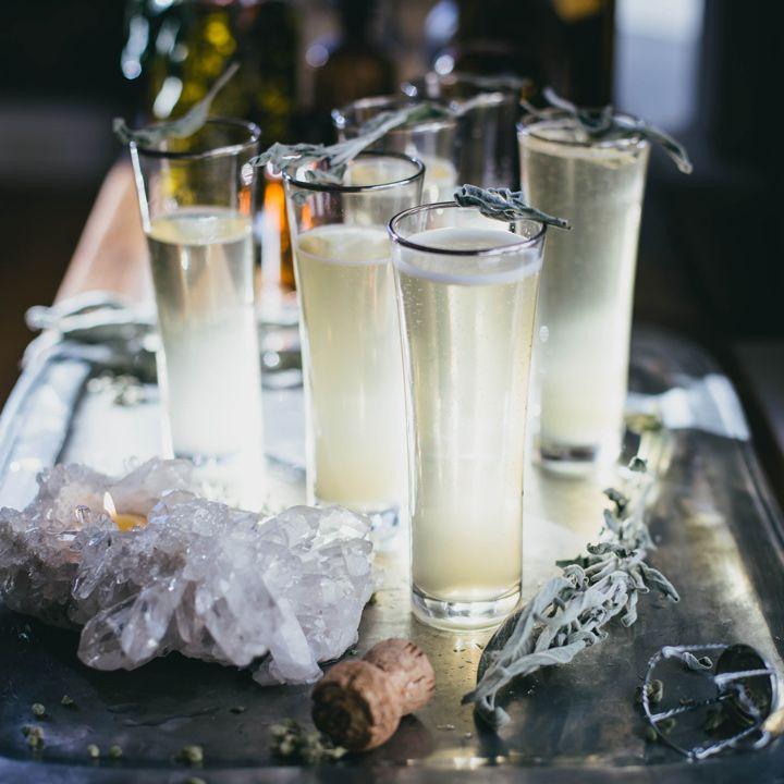 Sage Ginger Prosecco cocktail recipe.