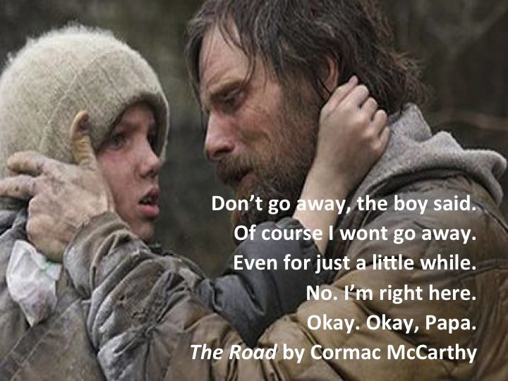 essays on the road by cormac mccarthy Free essay: in the novel, the road, cormac mccarthy illustrates the expressions, settings and the actions by various literary devices and the protagonist's.