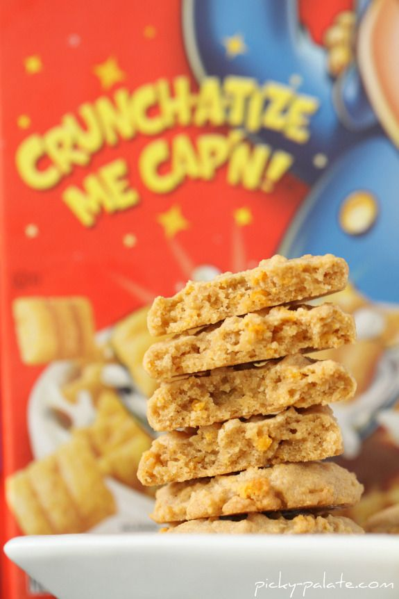 Cap'n Crunch Peanut Butter Cookie Stackers - Picky Palate
