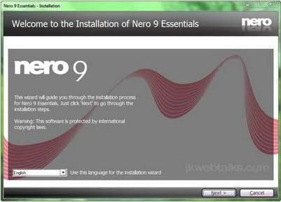 nero 9 with serial key