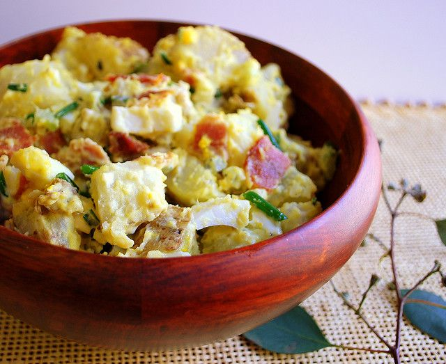 Potato Salad With Apples And Bacon Recipe — Dishmaps