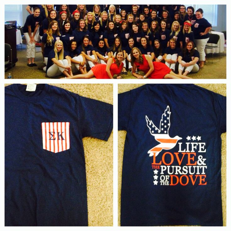 Sigma Kappa Recruitment theme: Sigma K in the USA. Shirts designed through Geneologie