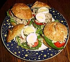 Tuna Sandwich with Capers and Fresh Basil...a much healthier ...