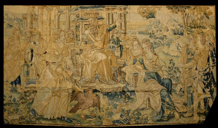 Antique Flemish Tapestry Wall Hanging Tapestries