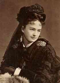 """Elizabeth Bacon Custer. Wife of General George A. Custer. On June 25, 1876, Elizabeth and other women whose husbands were on a campaign gathered in her home to cope with their anxiety together. They """"tried to find some slight surcease from trouble in the old hymns. . . The words of the hymn,  """"E'en though a cross it be,  Nearer my God to Thee,""""  came forth with almost a sob from every throat."""" They couldn't know that on that day, their husbands were dying in the Battle of Li..."""