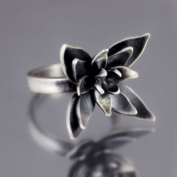 OOAK Sterling Silver Blossom Ring by Lisa Hopkins Design