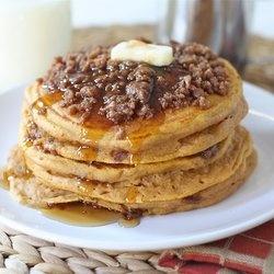 Pumpkin Cinnamon Streusel Pancakes — Punchfork