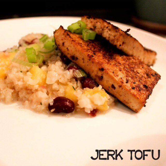 jerk tofu ... wonderful served with couscous