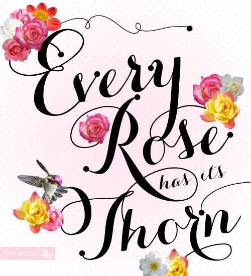~Every rose has it's thorn