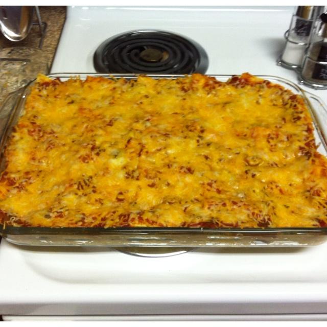 Stacked Chicken Enchiladas | casseroles & such | Pinterest